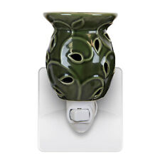 New Green Ivy Plug In Scented Oil Tart Wax Burner Warmer Night Light Lamp Gift