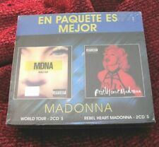 Madonna MEXICO ONLY CD BOX SET Rebel Heart Limited Edition MDNA Tour Promo Slip