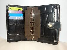 VINTAGE  MULBERRY ORGANISER IN BLACK CONGO BOXED