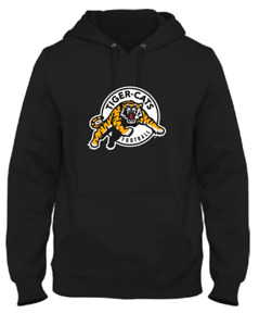 Men's Hamilton Tiger-Cats Black Primary Logo CFL Football Hooded Sweatshirt