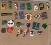 pin badge lot 26 pins TABLE TENNIS Yugoslavia clubs tournaments SPENS 81 1981