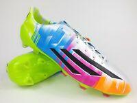 Adidas Mens Rare F50 adizero TRX FG Messi F32795 White Blue Soccer Cleats Boots