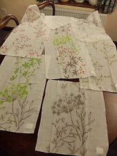 7 x Linen & polyester voile blind crafting fabric pieces in various sample sizes