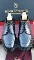 Allen Edmonds Black mens dress Shoes Size 10.5 Oxfords lace Up split toe leather