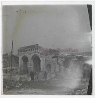 Francia Ruines Foto Stereo PL46Th1n8 Placca Da Lente Vintage C1925