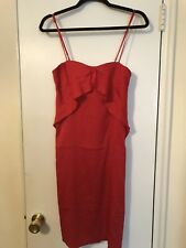 C'N'C COSTUME NATIONAL CNC Women Red Silk Party Dress 38