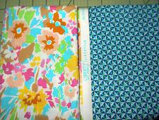 2 FQ LIBERTY Art Lifestyle Bloomsbury Cotton Fabric Quilt Craft Aqua Pink Flower