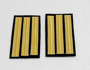 "Marine Navy Ship`s ""Chief Officer 2nd Engineers"" Uniform Epaulets Solder Board"