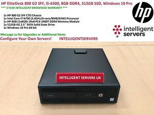 HP EliteDesk 800 G2 SFF, i7-6700, 8GB DDR4, 512GB SSD, Windows 10 Pro