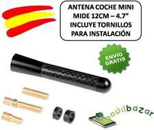 """ANTENA COCHE CAR FIBRA 12CM 4.7"""" CON CONECTORES UNIVERSAL AM/FM"""