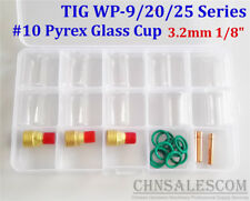 26 pcs TIG Welding  Gas Lens #10 Pyrex Glass Cup Kit for WP-9/20/25 3.2mm 1/8""