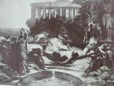 ANTIQUE PRINT GOTHS IN ITALY BY POOLE C1930'S VINTAGE ART PRINT PAINTING SEPIA