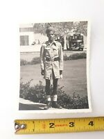1949 Native Karachi Pakistani Soldier in Uniform Turban GI's Orig. B&W Photo