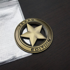 METAL Texas Edition Sticker Emblem Star Badge For Truck (Bronze)