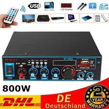 Bluetooth 800W Mini Power Audio Leistungsverstärker HiFi Bass AMP MP3 FM USB SD
