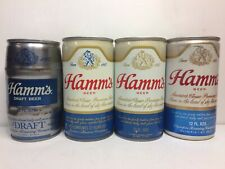 FOUR Different Hamm's Beer Pull Tab Steel & Aluminum Beer Cans Hamm's & Olympia