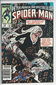 Spectacular Spiderman 90 - VF/NM (9.0) $.75 Canadian Variant Early Black Costume