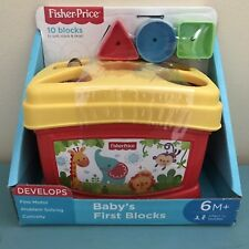 Fisher Price Baby'S First Blocks Sort Stack & Drop Age 6m + New!