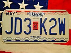 MISSOURI license licence plate plates USA NUMBER AMERICAN REGISTRATION