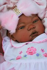 BUTTERFLY BABIES REBORN BABY DOLL FAKE BABY GIRL ETHNIC AA MIX RACE PIPPA DRESS