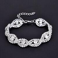 Made with Swarovski Elements Elegant Women's Crystal Clear Sparkly Bracelet