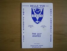 RHYL v GAINSBOROUGH TRINITY Northern Premier League 1987-88