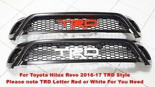 TOYOTA HILUX REVO SR5 M70 M80 2015-17 FRONT GRILLE MATTE BLACK NEW TRD STYLE
