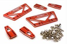 Integy Alloy Shock Mount Lift Kit for Axial 1/10 SCX-10 Scale Crawler Red