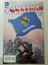 Justice League Of America #1 (2013) Oklahoma Flag Variant Cover David Finch Art