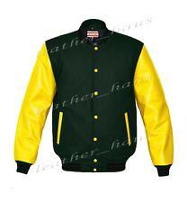 Faux Leather Sleeve Letterman College Varsity Men Wool Jackets #YS-BSTR-YB-FL-UK
