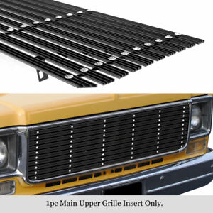 Fits 1973-1980 Chevy Blazer/C/K Pickup/Suburban Black Wide Rivet Billet Grille