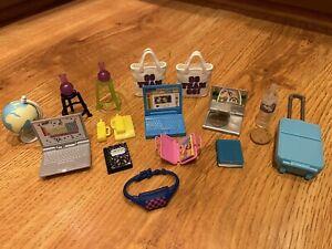 BARBIE Doll School Student Accessories or DIORAMA Laptop Notebook Globe etc