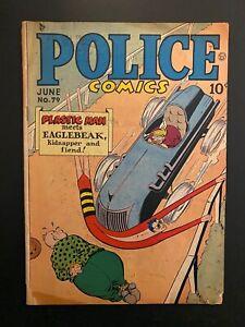 Police Comics 79 Lower Grade Comic Book CL68-191