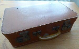 Lovely Genuine Vintage Small Light Tan Travel Case.