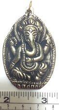 Inch Long Pendant. Handmade in Nepal. Ganesh / Ganesha Large Brass 2