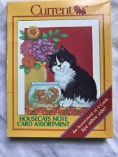 Current Note Cards House Cats (12) New Vintage
