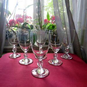 6 verres à vin  en cristal  LALIQUE modèle FRÉJUS signé H 14 cm