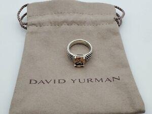 David Yurman Petite Wheaton Ring with Morganite and Diamonds 10x8mm Size 7