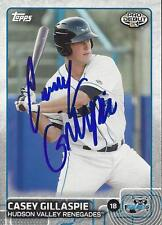 Casey Gillaspie Tampa Bay Rays 2015 Topps Pro Debut Signed Card