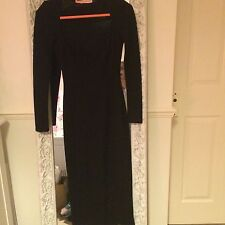 Oh My Love Black Midi Dress with Sweetheart Neckline (Size XS)