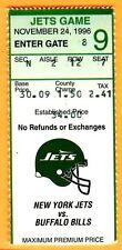 11/24/96 JETS/BILLS TICKET STUB