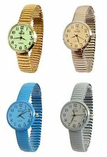 Ladies Coloured Expandable MAB Designer Fashion Watch Round Expander Bracelet