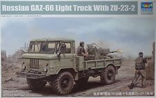 TRUMPETER® 01017 Russian GAZ-66 Light Truck w/ZU-23-2 Gun in 1:35
