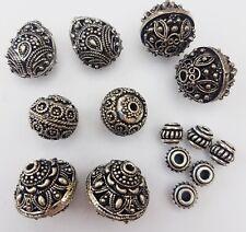 Antique Heavy Silver Filigree Metal Bead - Tibetan Bali Style silver beads