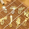 1PC Gold Metal Bookmarks Butterfly Dragonfly flower Designs Book Marks HUXI