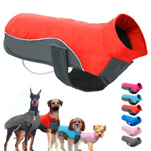 Small Large Dogs Jacket Winter Dog Clothes Waterproof Reflective Dog Vest Coat