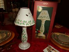 Lenox  Holiday Candle stick lamp,tea votive New in box Two