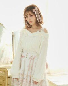 LIZ LISA - Bijou Strap Off-Shoulder Knit (japan kawaii lolita harajuku)