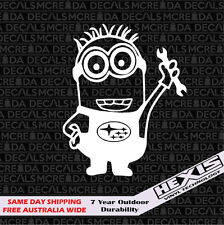 Custom Funny Minion Boxer Engine Sticker Decal For Subaru WRX STi JDM BRZ Scion