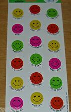 Hallmark Reward Stickers Smiley Happy Faces 1 Sheet 18 Pieces Free Ship Over $15